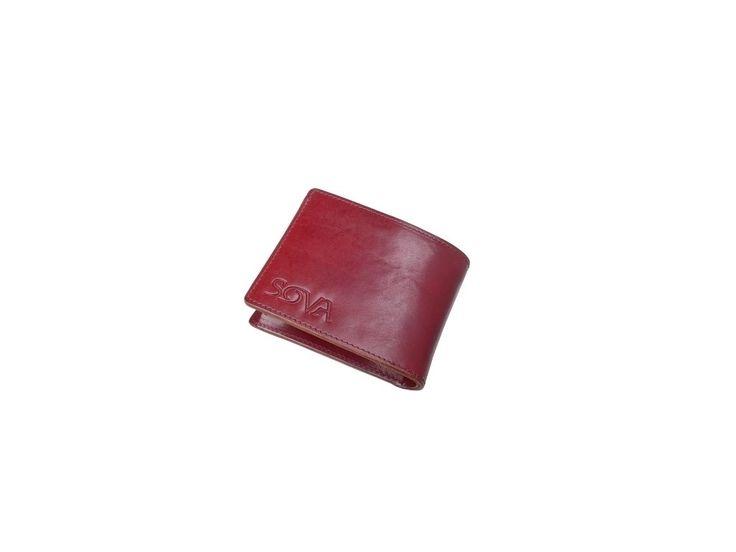 SOVA Pánská kožená peněženka TRE, pro leváky, Vino