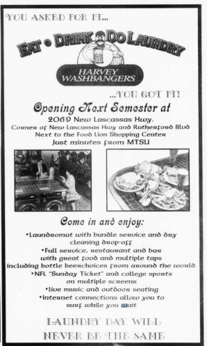 MTSU Sidelines 9 Dec 1999 - you could eat drink and do laundry!