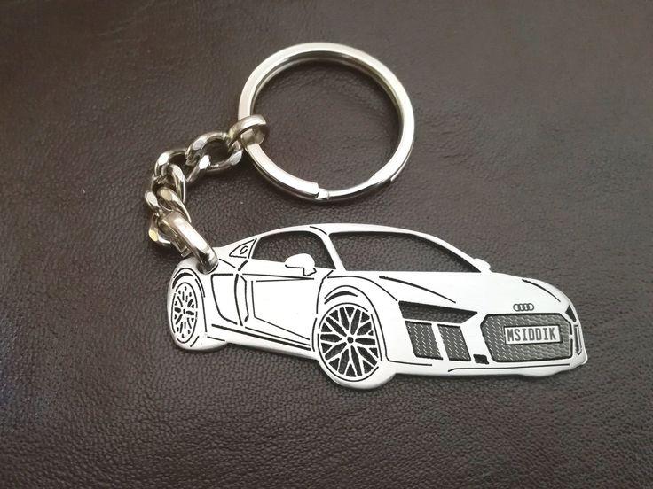 boyfriend gift, Audi keychain, Audi, AUDI R8, Personalized Key Chain, personalised keyring, Custom Keychain, car keychain