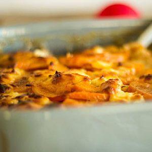 zoete aardappelgratin