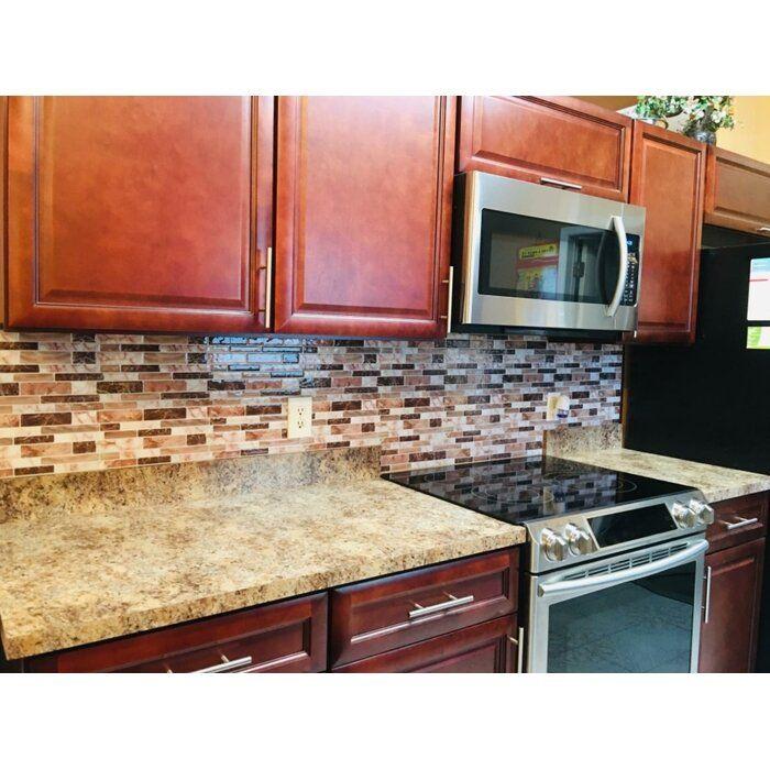 12 X 12 Pvc Peel Stick Mosaic Tile Stick Tile Backsplash Stick On Tiles Kitchen Backsplash Designs