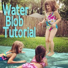 Just tried this on a small scale (3 x 5 ft) and it's already a ton of fun. Stick a small one in a shady spot on a hot day. The Water Blob tutorial: Amazing (and budget friendly) summer fun activity for all ages.
