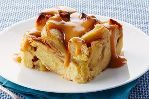Slow-Cooker Apple Bread Pudding with Warm Butterscotch Sauce Recipe