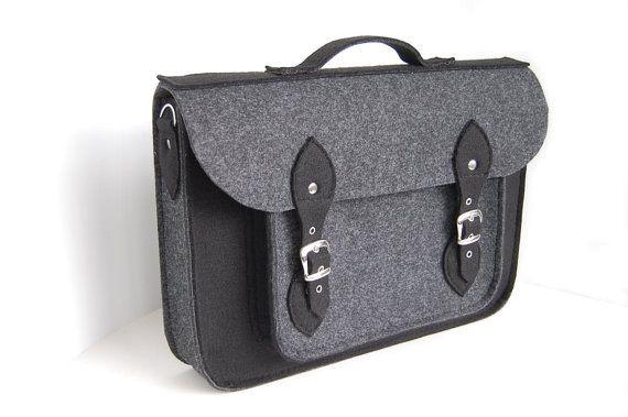 Gray felt laptop bag Etsy http://www.etsy.com/listing/130974445/felt-laptop-17-inch-bag-with-pocket