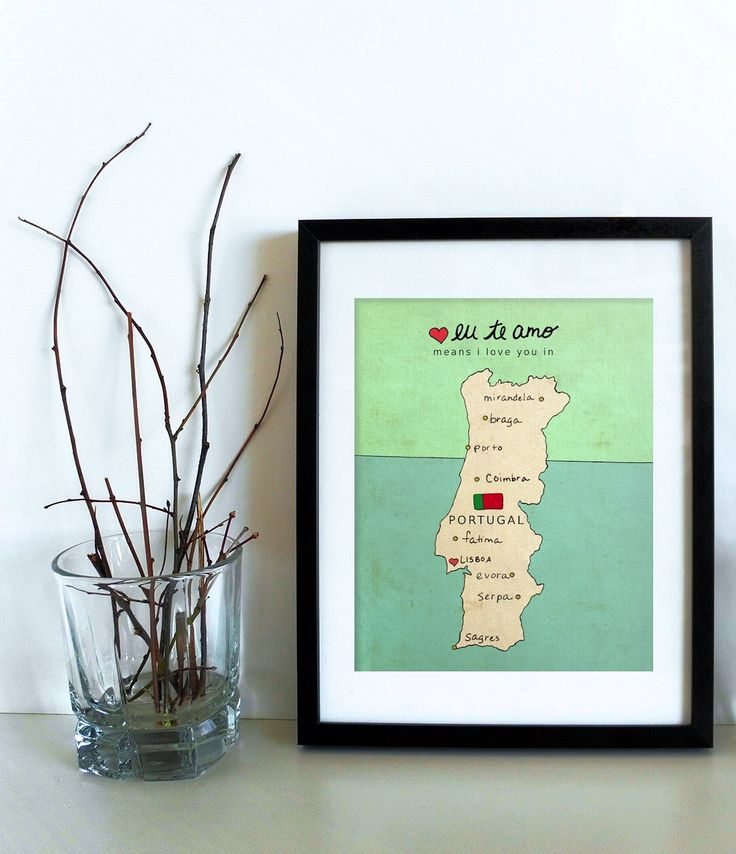I Love You in Portugal // Typographic Poster, Portuguese Map, Modern Baby Nursery Decor, Illustration, European Map, Travel Theme, Digital by LisaBarbero on Etsy https://www.etsy.com/listing/158310751/i-love-you-in-portugal-typographic
