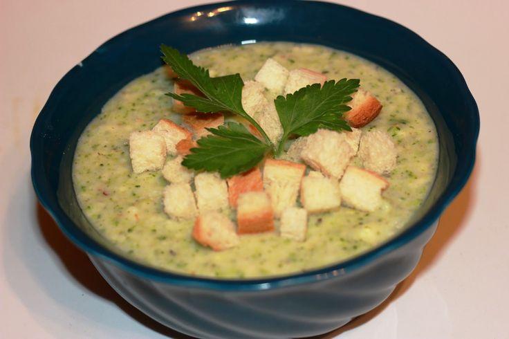Сливочный суп пюре с креветками
