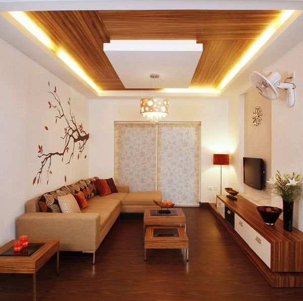 Simple ceiling design for small living room living room for Simple modern living room
