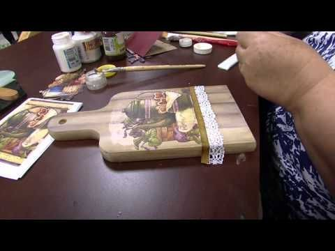 Mulher.com - 02/09/2015 - Decoupage com pintura imitando madeira - Rose Rodrigues - YouTube