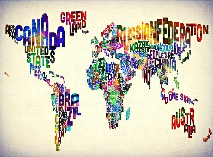 World writing Map