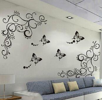 Best Flower Wall Stickers Ideas On Pinterest Flower Wall - Wall decals butterfliespatterned butterfly wall decal vinyl butterfly wall decor