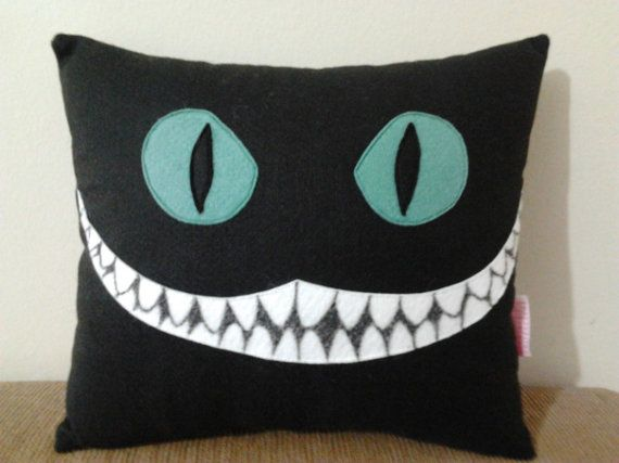 Handmade Alice in Wonderland Cheshire Cat Disney Tim Burton Black Party Favor Gift Stuffed Animal Toy Plush Pillow Cushion on Etsy, $24.95