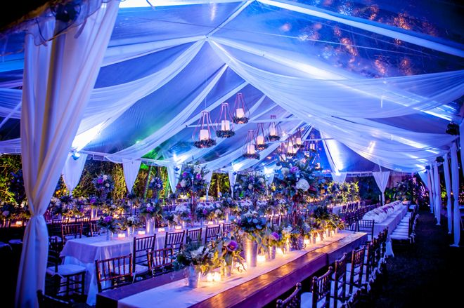 Clear tent + Drapery ~ Photography: Kane and Social