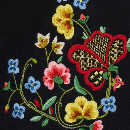 Beautiful examples of Norwegian embroidery.