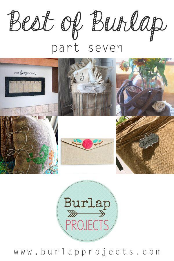 165 best DIY Burlap Decor images on Pinterest | Hessian fabric ...