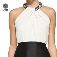 Top quality mulheres elegantes modelos de cetim de seda blusas