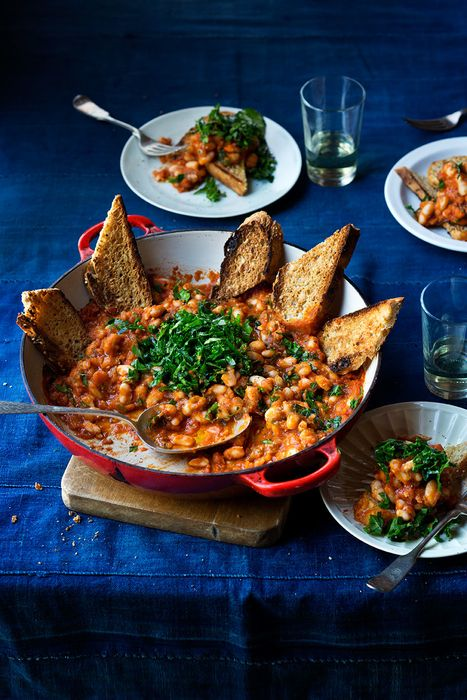 """Delicious Cannellini Bean Tartine - from author Laurie David, """"The Family Cooks"""" & Mom of 2 teenagers!  http://yourteenmag.com/2014/09/recipe-bean-tartine/"""