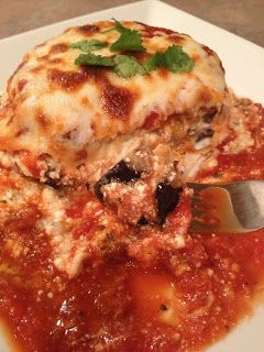 The Busy Broad: Cheesy Eggplant Parm Stacks- Low Carb