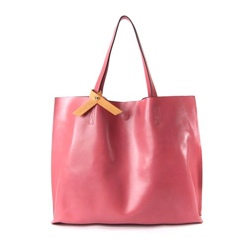 Leather Shoulder Bags for Women Ribbon Decorated Big Tote Bag at doozybag.com