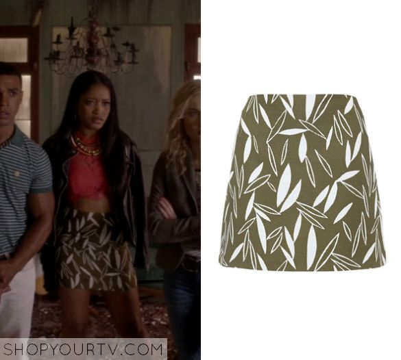 Scream Queens: Season 1 Episode 4 Zayday's' Leaf Print Skirt