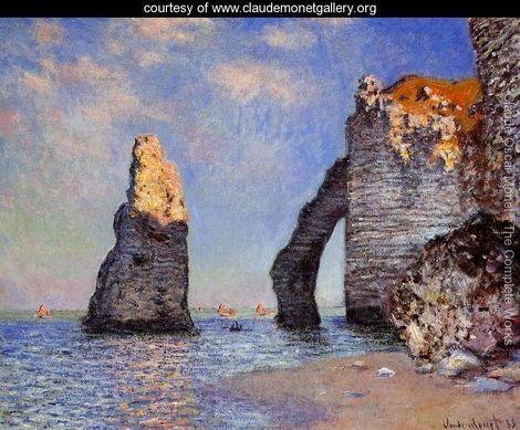 The Rock Needle And The Porte D Aval - Claude Oscar Monet - www.claudemonetgallery.org