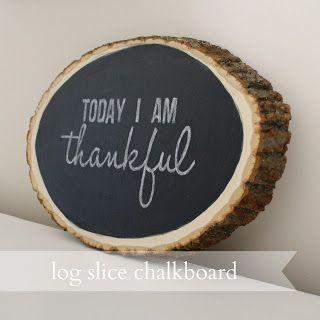 Live a Little Wilder: log slice chalkboard {tutorial}