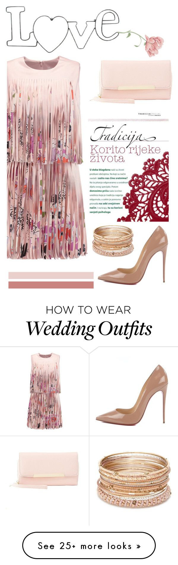 """""""Best Dressed Guest: Barn Weddings"""" by burpy on Polyvore featuring Alexis, Charlotte Russe, Christian Louboutin, Red Camel and rustic"""