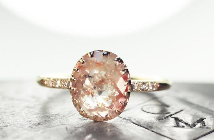 CHINCHAR•MALONEY - 1.06 Carat Champagne/Peach Diamond Ring in Yellow Gold, $3,195.00 (http://chincharmaloney.com/1-06-carat-champagne-peach-diamond-ring-in-yellow-gold/)