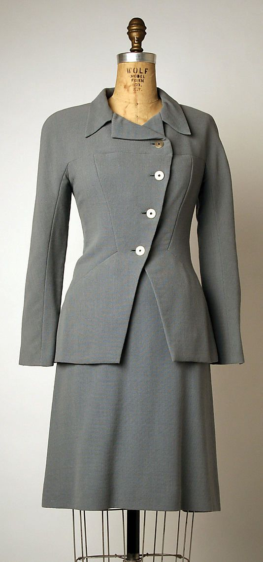 Ensemble, House of Chanel, Designer Karl Lagerfeld, 1997-98, French, wool, leather and silk