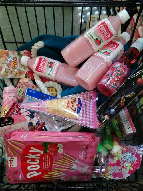 Buy a bunch of random pastel food from a supermarket