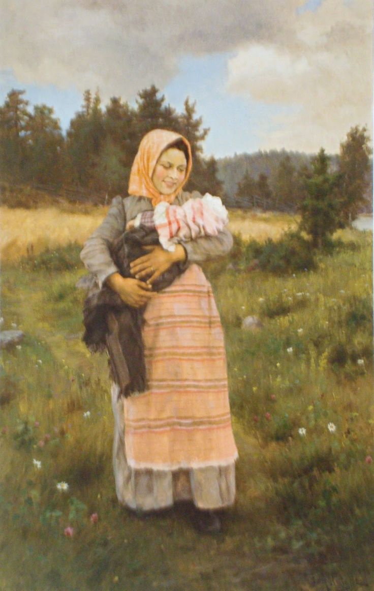 Fredrik Ahlstedt (1839-1901) Young mother 1894 - Finland