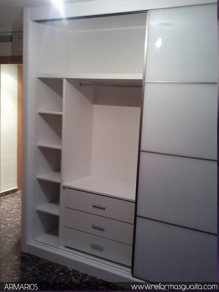 Reformas guaita armario lacado con cristal blanco for Armarios dormitorio diseno