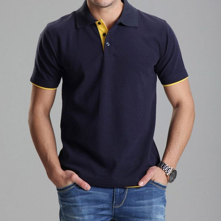 new arrival Brand Clothing Polo Solid Wholesale Polo Shirt Casual Men Tee Shirt Tops Cotton Slim