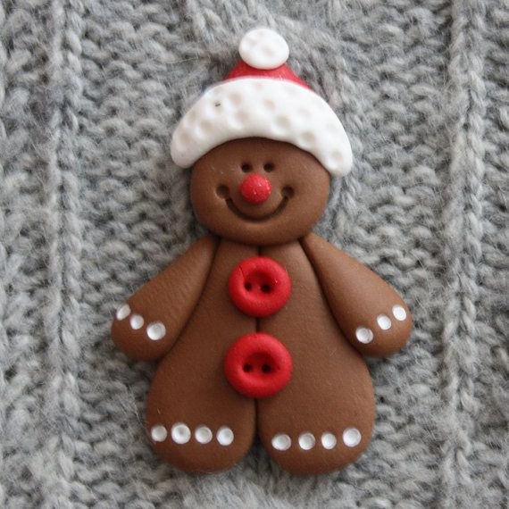Cartolina di Natale uomo di Pan di zenzero rendendo topper, fimo, fimo acquistare qualsiasi 5 GET 1 FREE