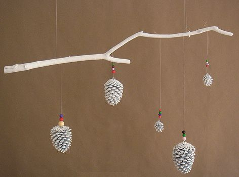 It's the Christmas spin on the feather mobile I have hanging in my room. #DIY