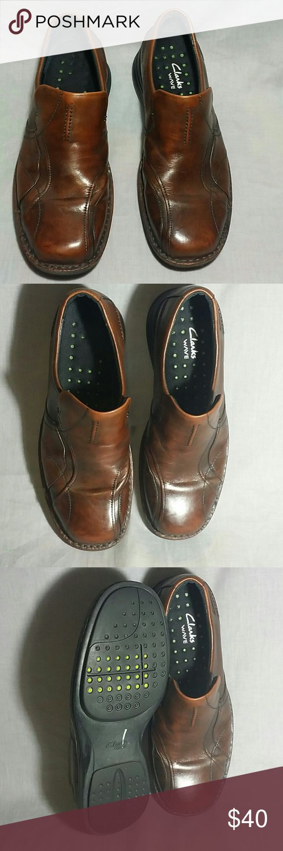 Men's Clarks Wave Slip-on Shoes Brown 8.5 M Leather item is just like new (please check my bundle discount thanks for visiting ). Clarks Shoes Loafers & Slip-Ons