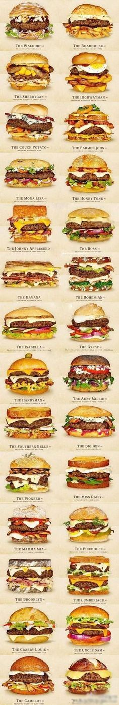 So Many Awesome Tasty Burger Options ~ For those who love cheeseburgersthis is the place to go for recipes and ideas for the bestcheeseburgers.