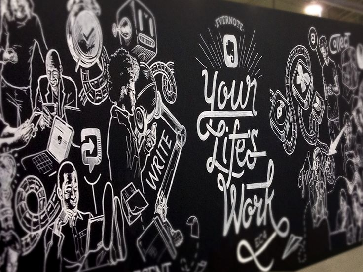 EC4 Wall Art by Carlos Rocafort for Evernote Design