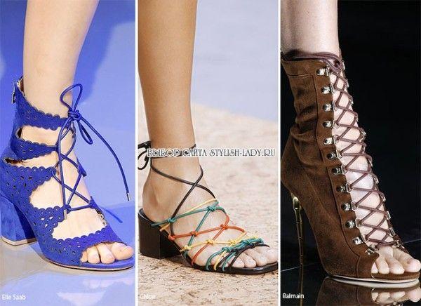 модные сандалии весна - лето 2016, фото