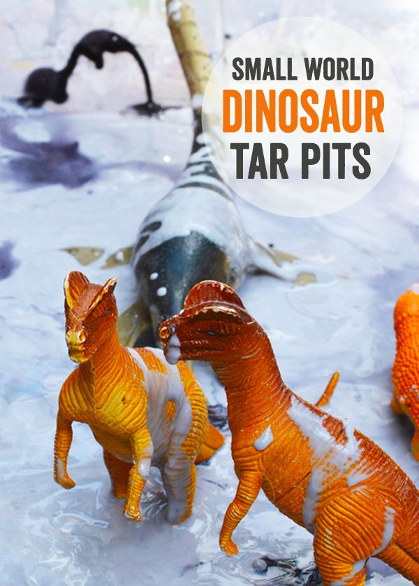 Small World Tar Pits Dinosaur Play For Toddlers For