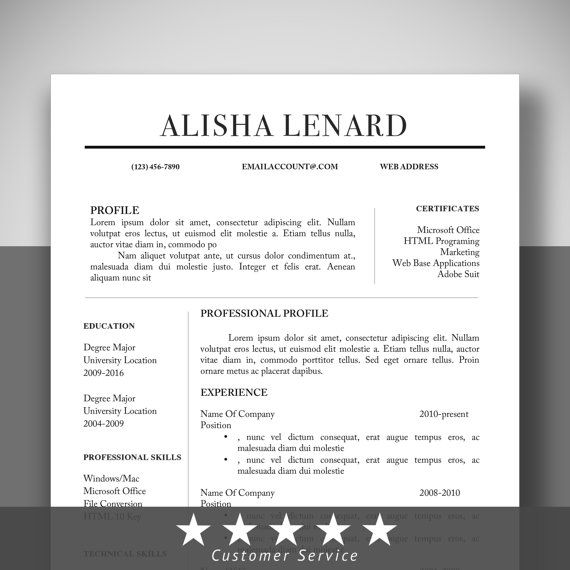 28 best cv template images on Pinterest Resume templates, Cv - microsoft word resume template 2010