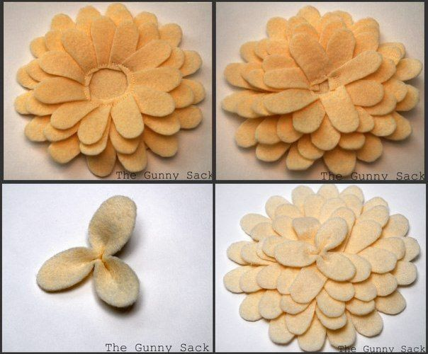 Handmade-courses, templates, tutorials: The idea for the pillow-flower with felt