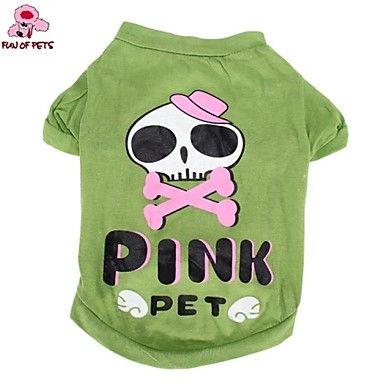 Gatti / Cani Costumi / T-shirt / Completi Verde Abbigliamento per cani Estate Cartoni animati / Teschi Matrimonio / Cosplay / Halloween del 4349812 2017 a €6.99