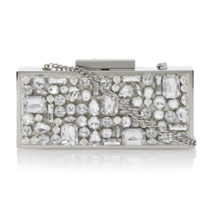 DUNE ACCESSORIES ECASEY - Jewelled Box Clutch Bag by Dune London #dunelondon #dune #bag #clutch #accessories #jewel #style #fashion #bridal #bride #wedding #bling #sparkle #diamonds