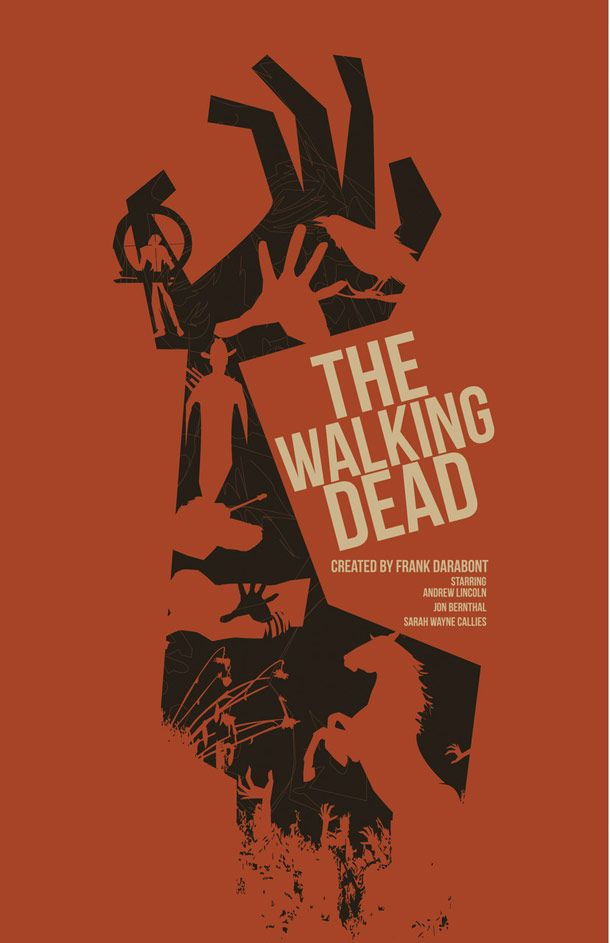 dark knight rise walking dead minimalist posters-38