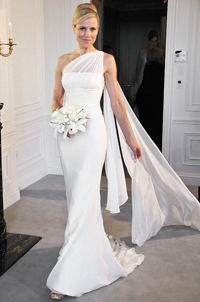 Stylish One Shoulder Wedding Dresses Long Wedding Dresses
