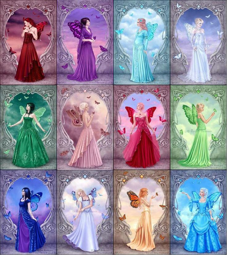 Birthstone Fairies ~ Wouldn't  you know it? Mine is not the purple one? I want the purple one!! ✨