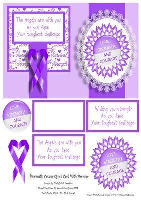 Pancreatic Cancer Card on Craftsuprint - Add To Basket!