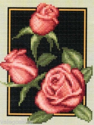Cross Stitch Chart Pattern   RED ROSES