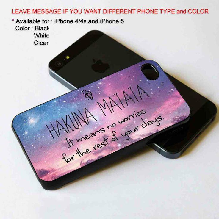 HaKuNa MaTaTa nebula iPhone 5 BLACK case