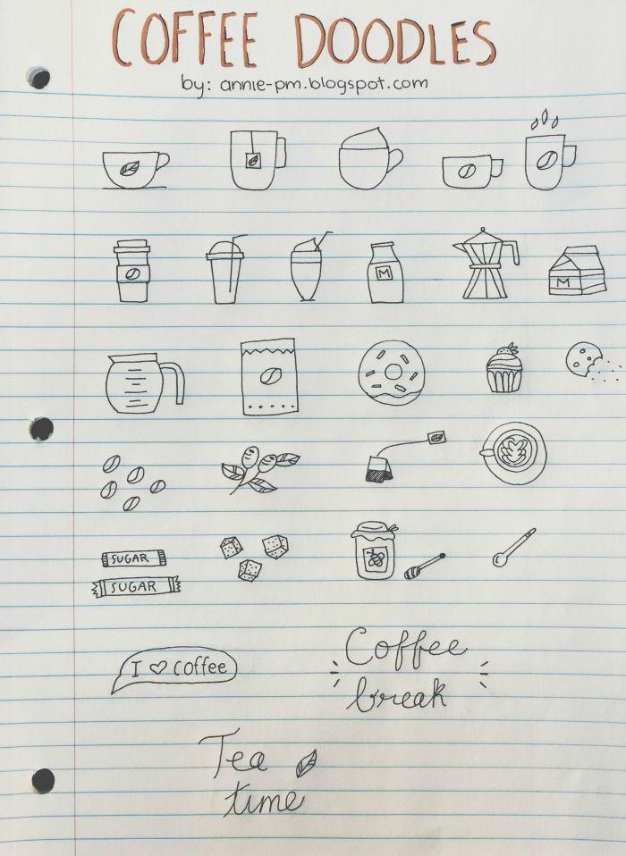 Doodles: Café y té | Bullet Journal
